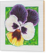 One Pansy For Marti Wood Print