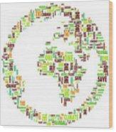 One Planet Wood Print