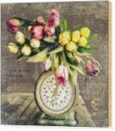 One Pound Tulips Wood Print