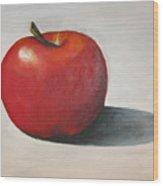 One Red Apple Wood Print