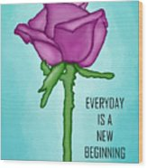 One Rose Everyday Wood Print