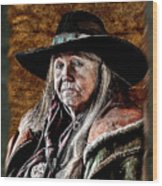 One Serious Cowgirl Wood Print