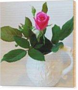 One Sweet Rose Wood Print