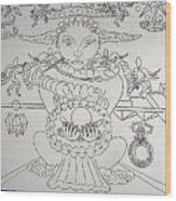 One Thru Nine Drawing Wood Print