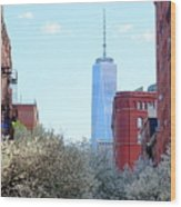 One World Trade Center In Spring Wood Print
