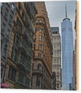 One World Trade Center New York Ny From Nassau Street Wood Print