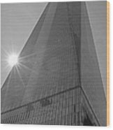 One World Trade Center New York Ny Sunset Black And White Wood Print