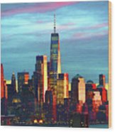 One World Trade Sunset Spectacle Wood Print