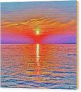 Oneida Lake Sunset Art Wood Print