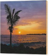 Oneo Bay Sunset Wood Print
