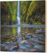 Oneonta Cascades Wood Print