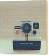 Onestep Polaroid Wood Print