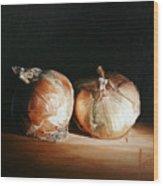 Onions Wood Print
