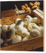 Onions Blancs Frais Wood Print