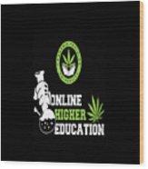 Online Higher Education Wood Print