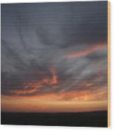 Only God Can Make A Sunset Wood Print