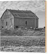 Ontario Farm 4 Bw Wood Print