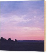 Ontario Sunset 3 Wood Print