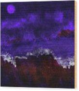 Oocean In The Moonlight  Wood Print