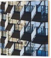 Tiered Balconies Wood Print