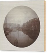 Oostersingel With Aangemeerde Ships In Leeuwarden, Anonymous, 1897 Wood Print