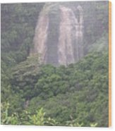 Opaekaa Falls On Kauai During A Storm Wood Print