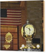 Opal Atomic Clock At Grand Central Wood Print