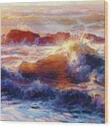 Opalescent Sea Wood Print
