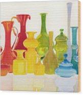Opaque Glass Transparent Watercolor Wood Print