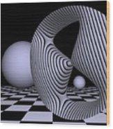 Opart Devil's Curve Wood Print