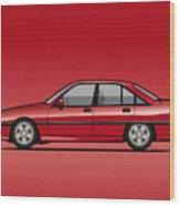Opel Omega A, Vauxhall Carlton 3000 Gsi 24v Red Wood Print
