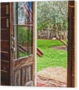 Open Door Wood Print