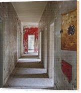 Open Doors - Abandoned Building Wood Print