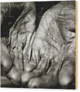Two Old Hands Wood Print
