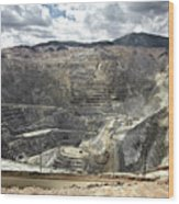 Open Pit Mine, Utah, United States Wood Print