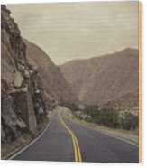 Open Road Through The Canyon Wood Print