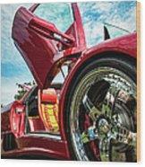 Open Sesame Red - Lamborghini Diablo  Wood Print