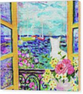 Open Window-colours Wood Print
