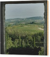 Open Window Looking Out On The Tuscan Wood Print