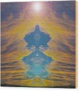Opening Heavens Wood Print