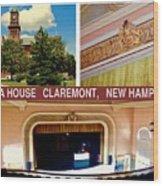 Opera House Claremont Nh Wood Print