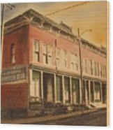 Opera House Philipsburg Montana Wood Print