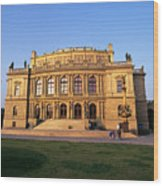 Opera House, Prague Wood Print