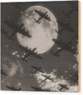 Operation Moonlight Wood Print