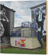 Operation Motorman Mural In Derry Wood Print