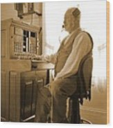 Operator Wood Print