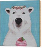 Ophelia The Polar Bear  Wood Print