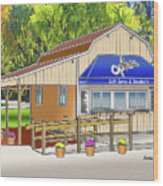 Opie's Snowball Stand Wood Print