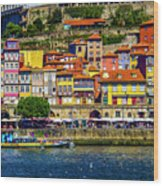 Oporto By The River Wood Print