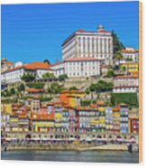 Oporto Riverfront Wood Print